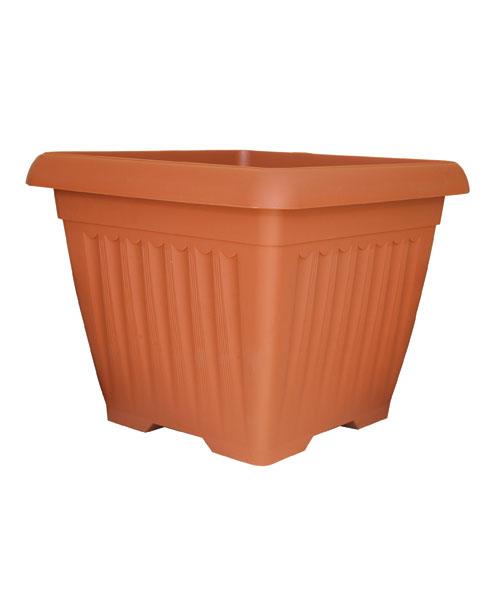 Τετράγωνη πλαστική γλάστρα ceramica