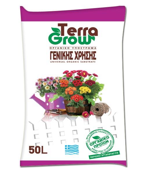 Οργανικό υπόστρωμα γενικής χρήσης 50 λτ με compost