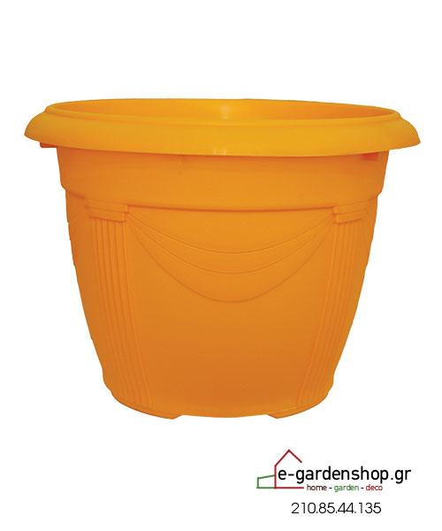 χρωματιστή γλάστρα κίτρινη