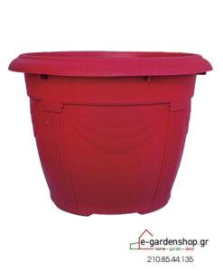 χρωματιστή γλάστρα κόκκινη