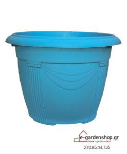 χρωματιστή γλάστρα γαλάζια