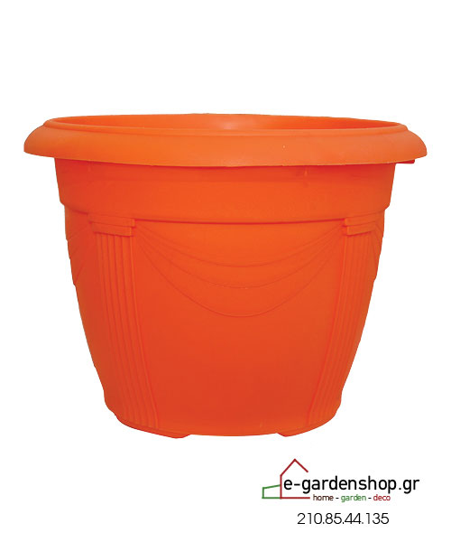 χρωματιστή γλάστρα πορτοκαλί