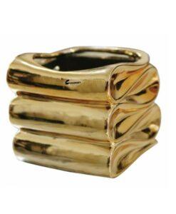 Καθρέφτης χρυσό κεραμικό κυματιστό