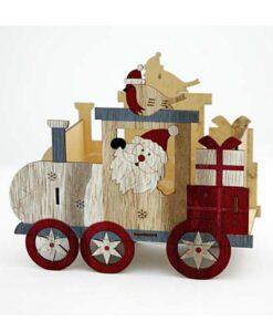 Ξύλινο Χριστουγεννιάτικο διακοσμητικό - Τραίνο